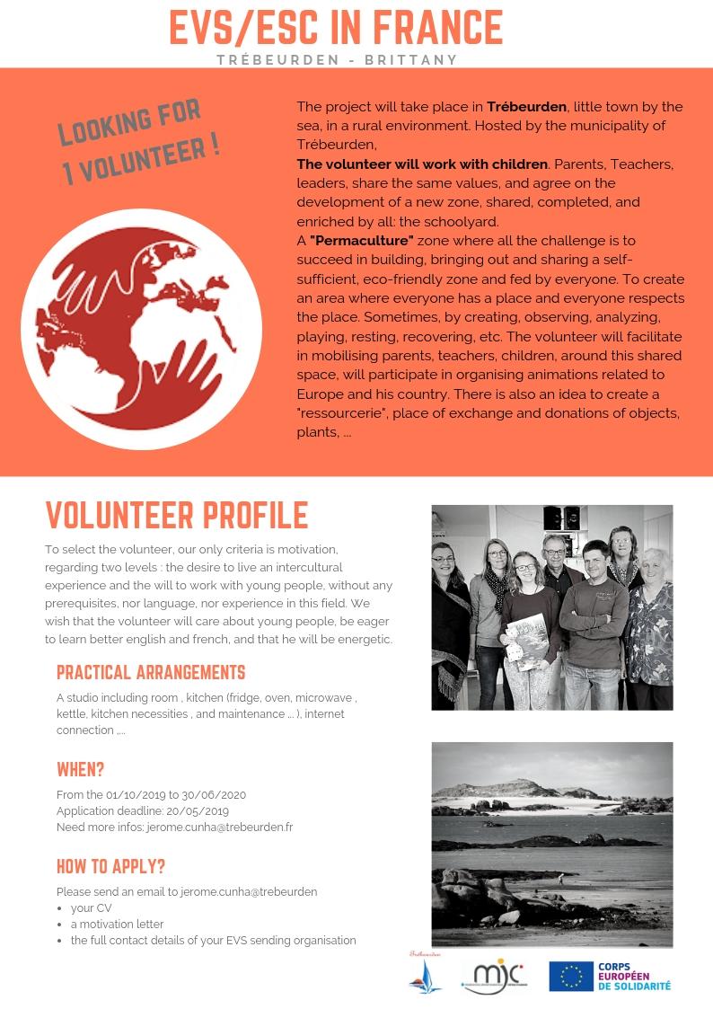 nous recherchons un service volontaire europ u00e9en
